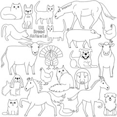 doodle of US breed domestic animals