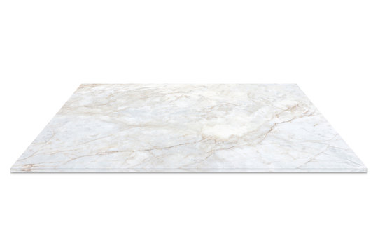 white marble counter isolated on white background