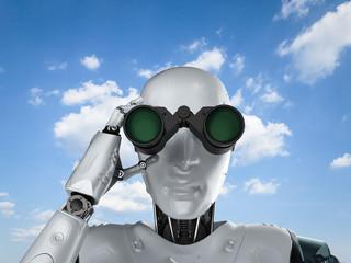 Robot with binoculars