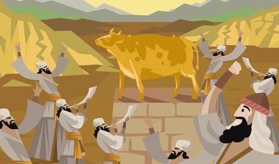Golden calf adoration old testament tale