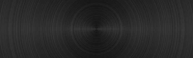 Vinyl record close up. Black vinyl texture. Panoramic illustration
