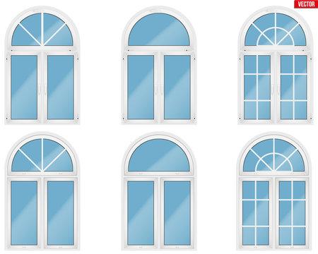 Set of PVC windows