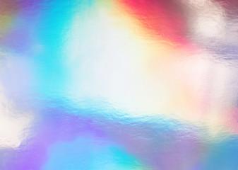Trendy holographic foil paper close-up.