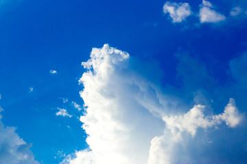 Türaufkleber Dunkelblau Blue sky with Storm clouds over. Wallpapers, Blue sky Background.