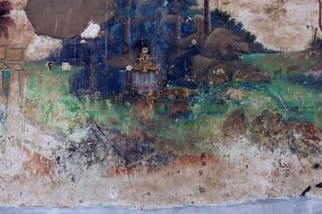 Deurstickers old vintage grunge concrete cement bricks wall background wallpaper surface backdrop