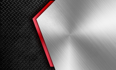 Türaufkleber Metall Modern metal framing background template