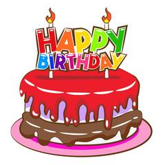 Birthday Cake Vector Graphic Clipart Design