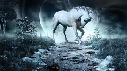 Unicorn above the stream
