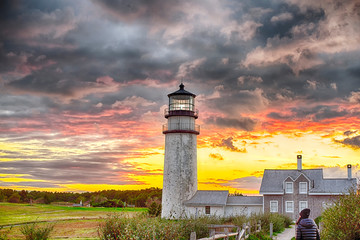 Highland Lighthouse Sunset cape cod Wall mural