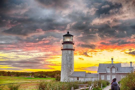 Highland Lighthouse Sunset cape cod