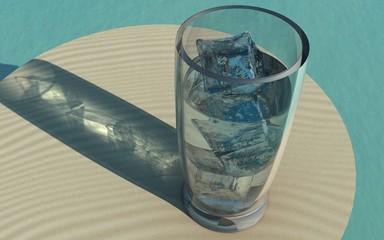 グラスと氷1