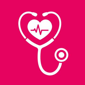 Stethoscope heart icon