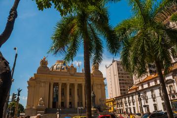 Rio de Janeiro, Brazil: Tiradentes Palace headquarters of ALERJ - Legislative Assembly of Rio de Janeiro located in the historic center of the city.
