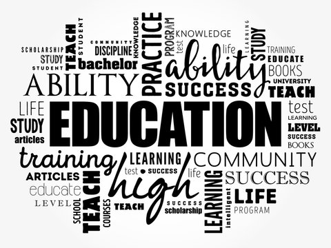 EDUCATION word cloud collage, concept background