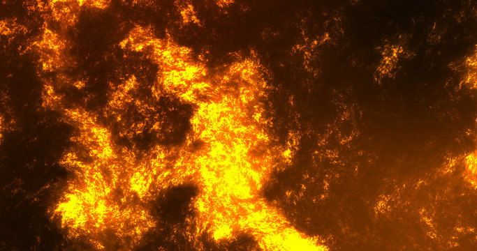 Hot Lava Lake Volcano Texture Abstract Background