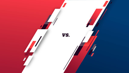 Versus screen design. Battle. sport headline template. Fllat modern design. Vector illustration image