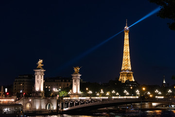 Aluminium Prints Eiffel Tower Eiffel Rays