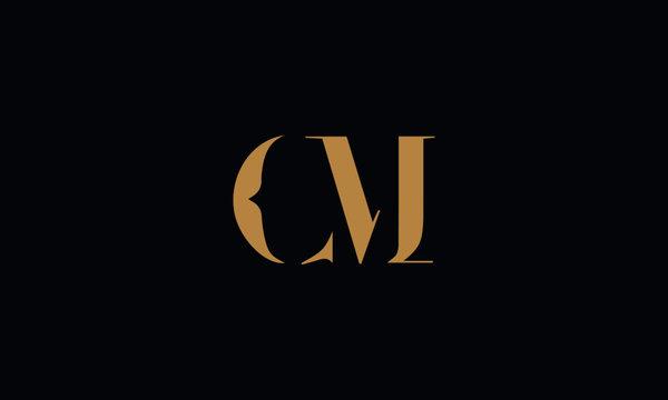 CM logo design template vector illustration
