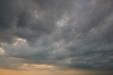 Storm cloud & rainy weather background