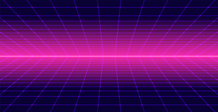 Background Landscape 80s Style. Synthwave, retrowave wallpaper designs. Vector eps 10