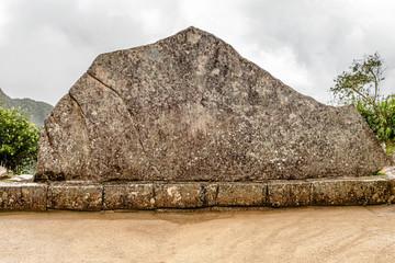 Sacred Rock in Machu Picchu complex near Cusco, Peru
