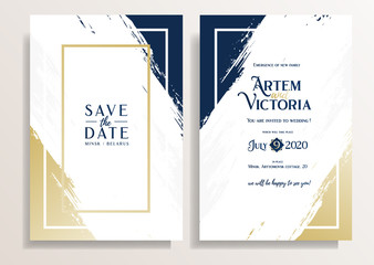 vector illustration. Graphics template for wedding invitation or flyers. Vector example save the date layout of the card. Paper A4. elegant creative design