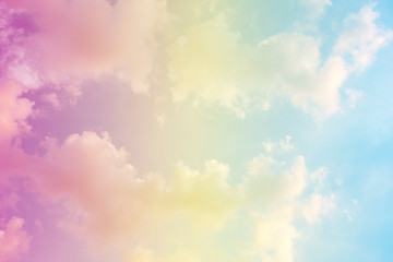 A soft fog cloud background with a pastel colored orange to blue gradient