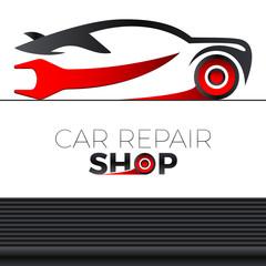 Wall Mural - Sportauto - Autowerkstatt - logo design