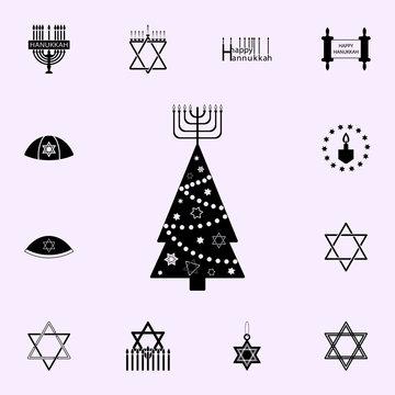 hanukkah tree icon. Hanukkah icons universal set for web and mobile