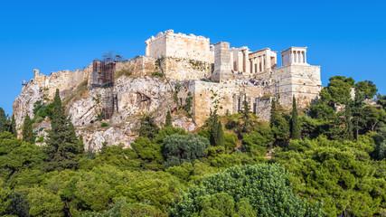 Fototapete - Acropolis of Athens, scenic view of Propylaea, Greece