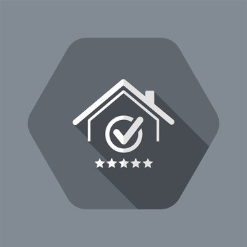 Top rating residence - Vector web icon