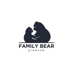 bear logo, mother and baby bear logo, cute bears logo