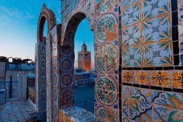 Zaytuna Mosque Tunis Tunisia colorful tiles