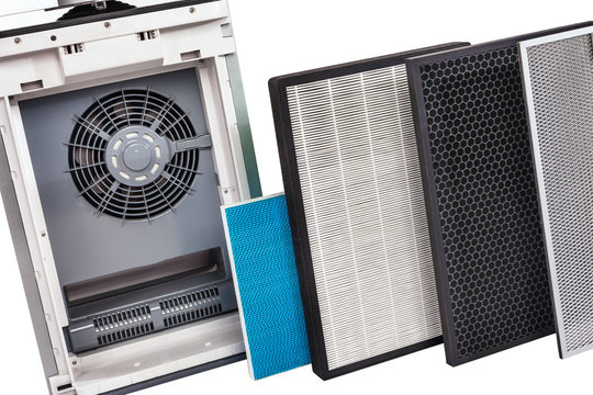 Multistage air cleaner with a set of filters. Air hygiene support system. Change of air filters. Improving indoor climate. The microclimate of the house.