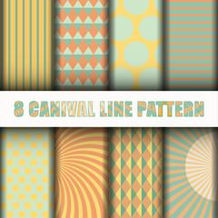 8 Carnival line pattern background