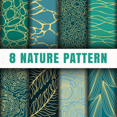 8 Netural outline  pattern background set collection