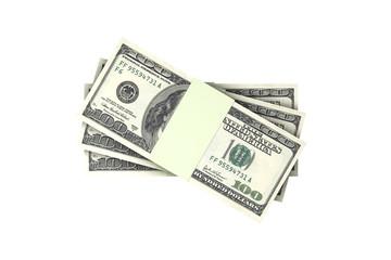 Stack of One Hundred Dollar Banknotes Render