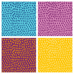 Colorful Hand paint spot set vector seamless pattern