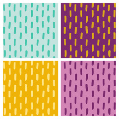 Colorfull dotted line set vector seamless pattern