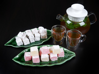 Turkish delight with fruit aroma