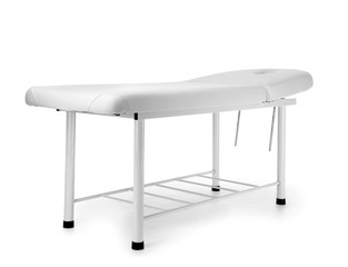 Treatment couch on white background
