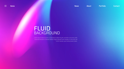 Trendy fluid gradient background for landing page background, colorful abstract liquid 3d shaped. Futuristic design backdrop for banner, poster, cover, flyer, presentation, advertising Fotoväggar