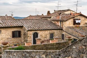 Bergdorf, Panzano in Chianti, Greve in Chianti, Region Toskana, Italien