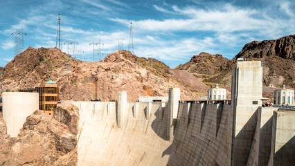Printed roller blinds Dam View of hoover dam las vegas nevada hydroelectric power plant