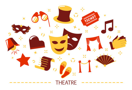 Theater concept. Idea of a show and entertainment