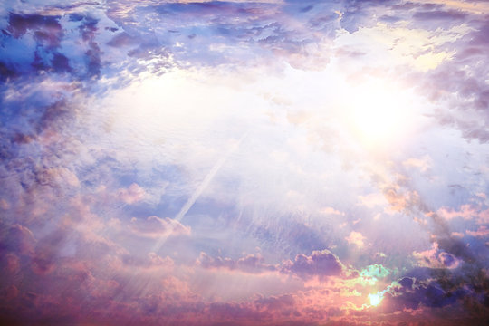 abstract sky background / blurred texture spring sky, clouds landscape wallpaper