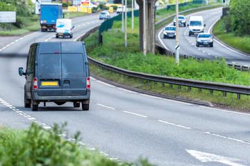 Fototapeta van on uk motorway in fast motion obraz