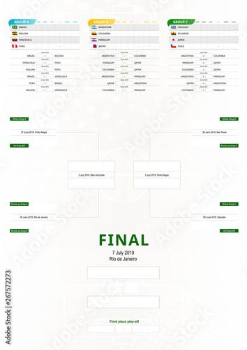 South America 2019, vertical football tournament schedule