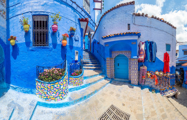 Wall Mural - Amazing street and architecture of Chefchaouen, Morocco, North Africa