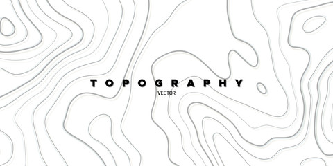 Topography relief. Abstract background. Vector illustration. Outline cartography landscape. Modern poster design. Trendy cover with wavy lines